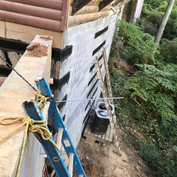 Carbon Fiber Installation Exterior Guardian Foundation Repair